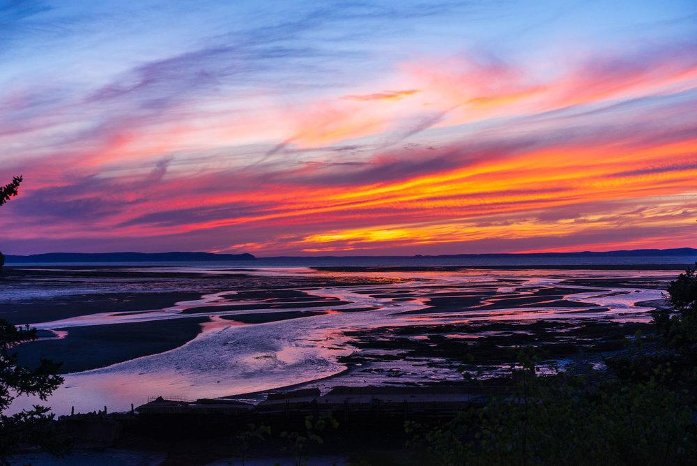 Sunset over the Walton River Delta