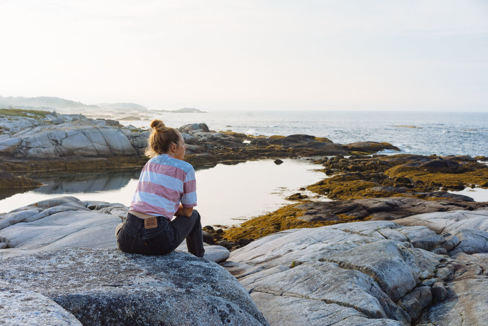MAK looking over Peggy's Cove, NS