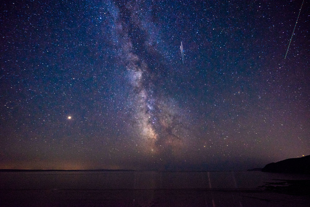 Night sky over the Bay of Fundy, NB