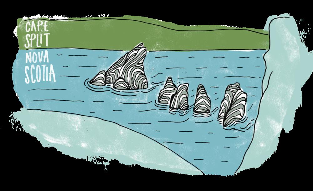 Sketch of Cape Split by MAK