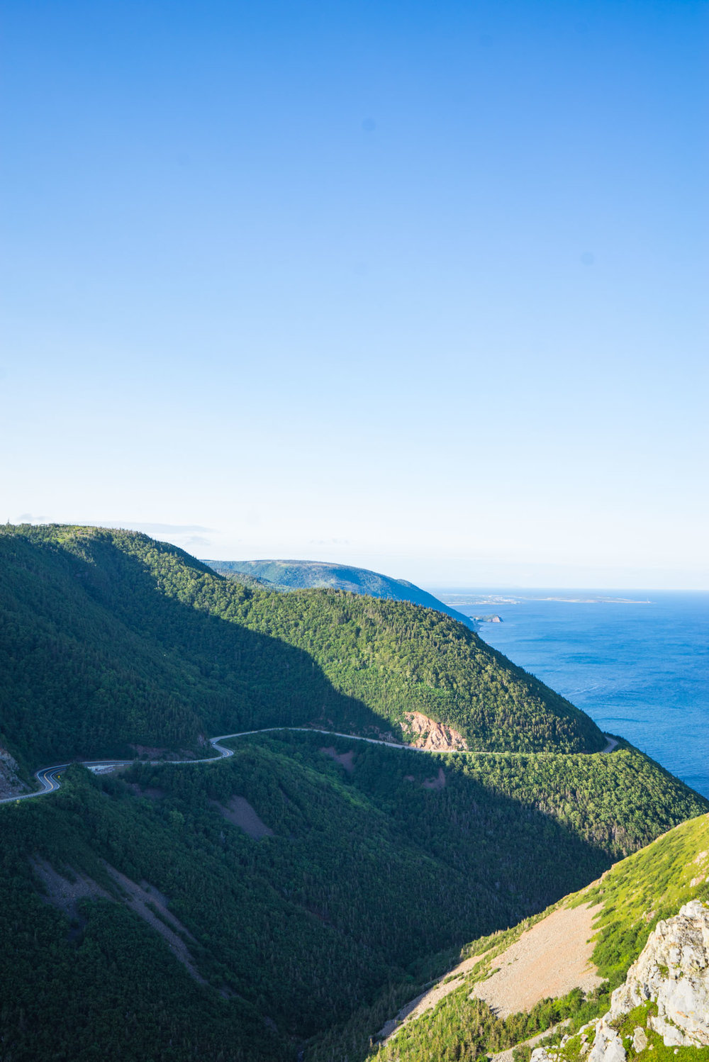 View from the Skyline Hike in Cape Breton, NP