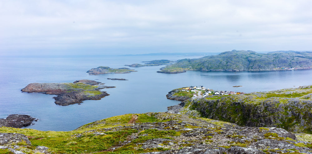 View looking back at Fogo on the Fogo Head trail
