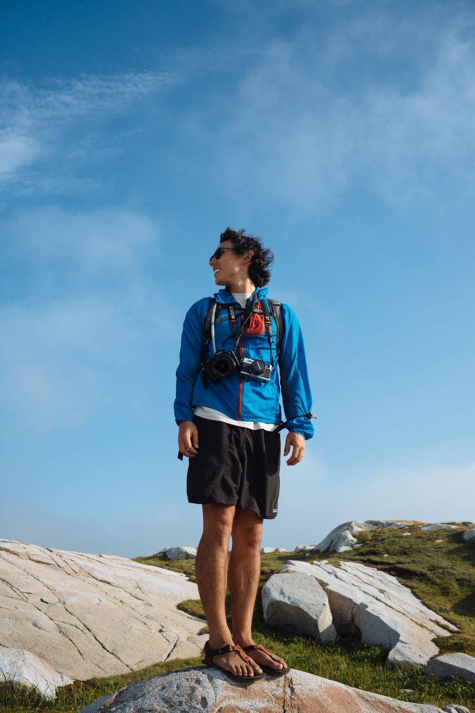 Owen hiking in Joe Batt's Arm