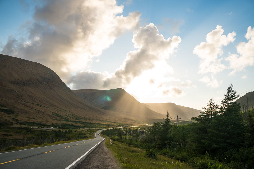 Road through the Tablelands in Gros Morne