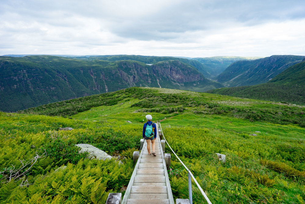 MAK heading down the backside of Gros Morne