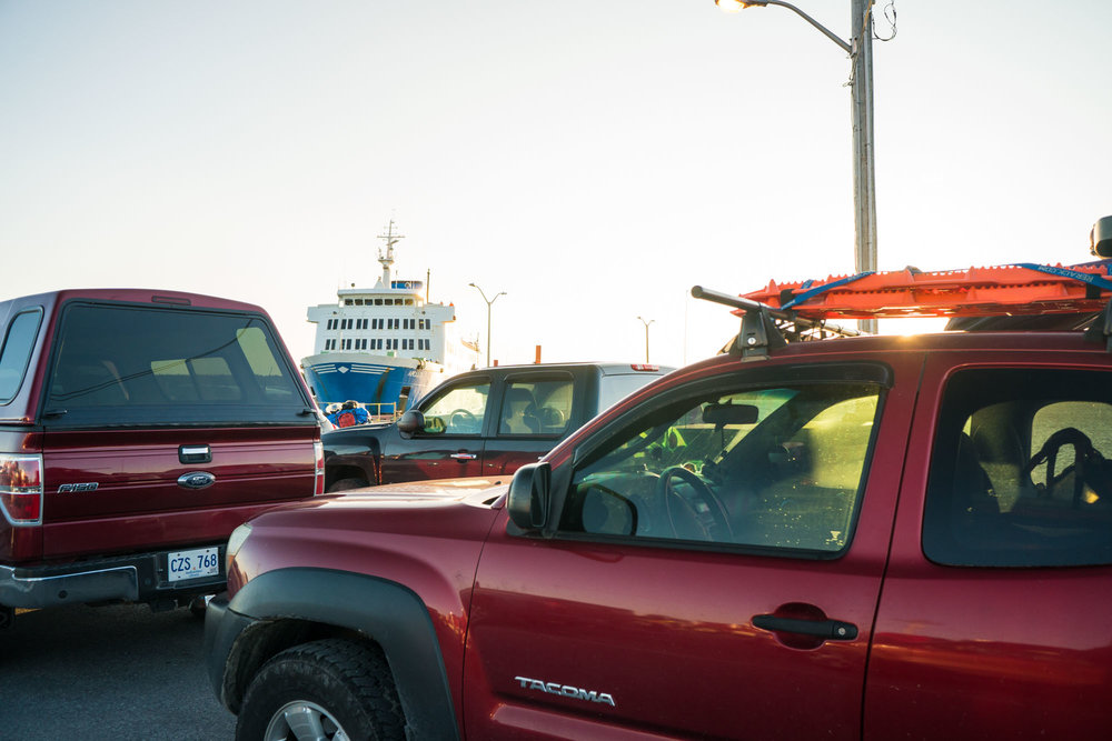 Ferry arriving in port to pick us up and take us to Labrador