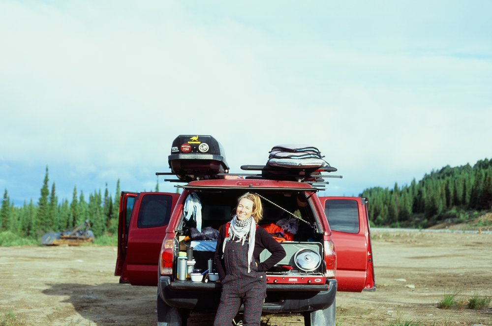 MAK at camp on the Trans Labrador HWY, 35mm