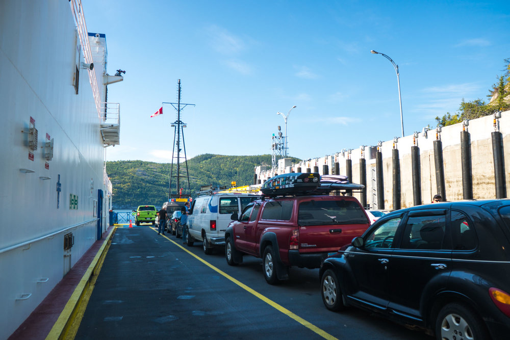 Crossing the Saguenay river in Tadoussac, Quebec