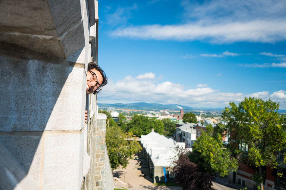 Owen exploring the walls of Old Town Quebec