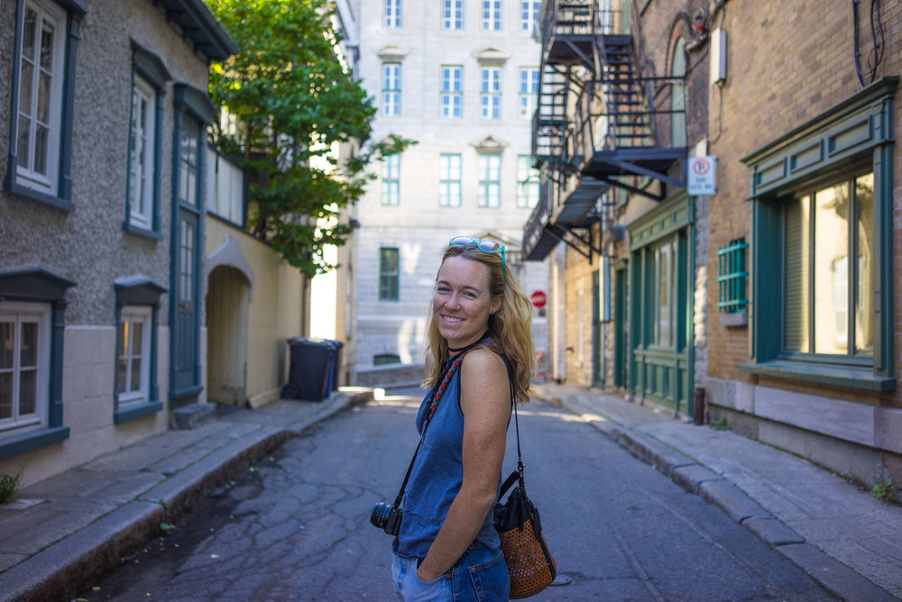 MAK walking the streets in downtown Old Quebec City