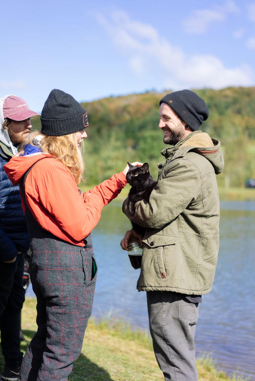 MAK, Sam, and his cat Whybe
