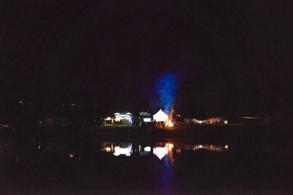 El Campo at night