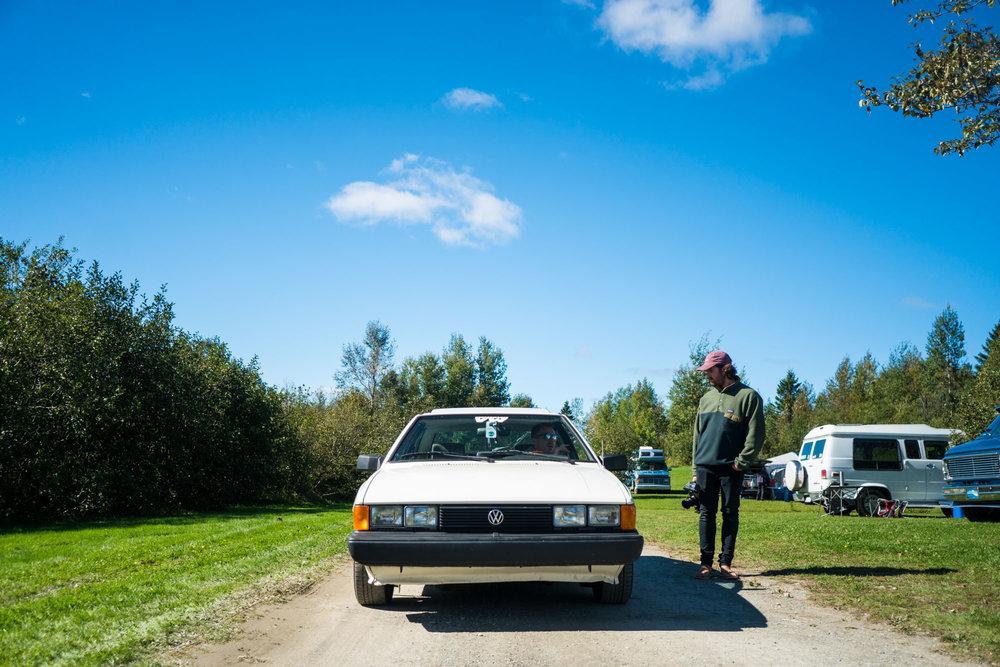 Paul seeing his favorite car