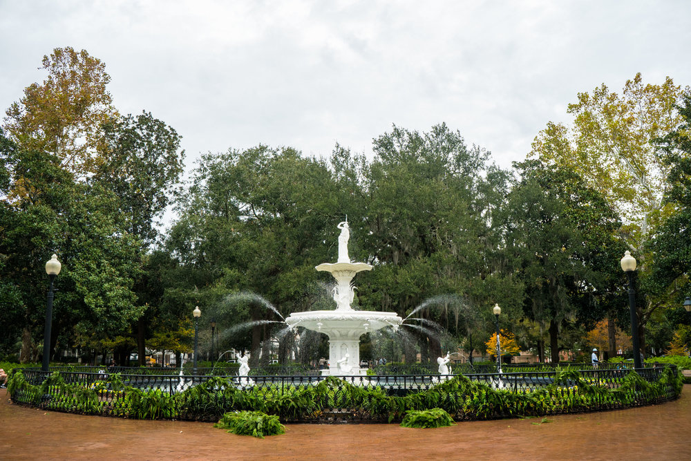 The fountain in Forsyth Park, Savannah