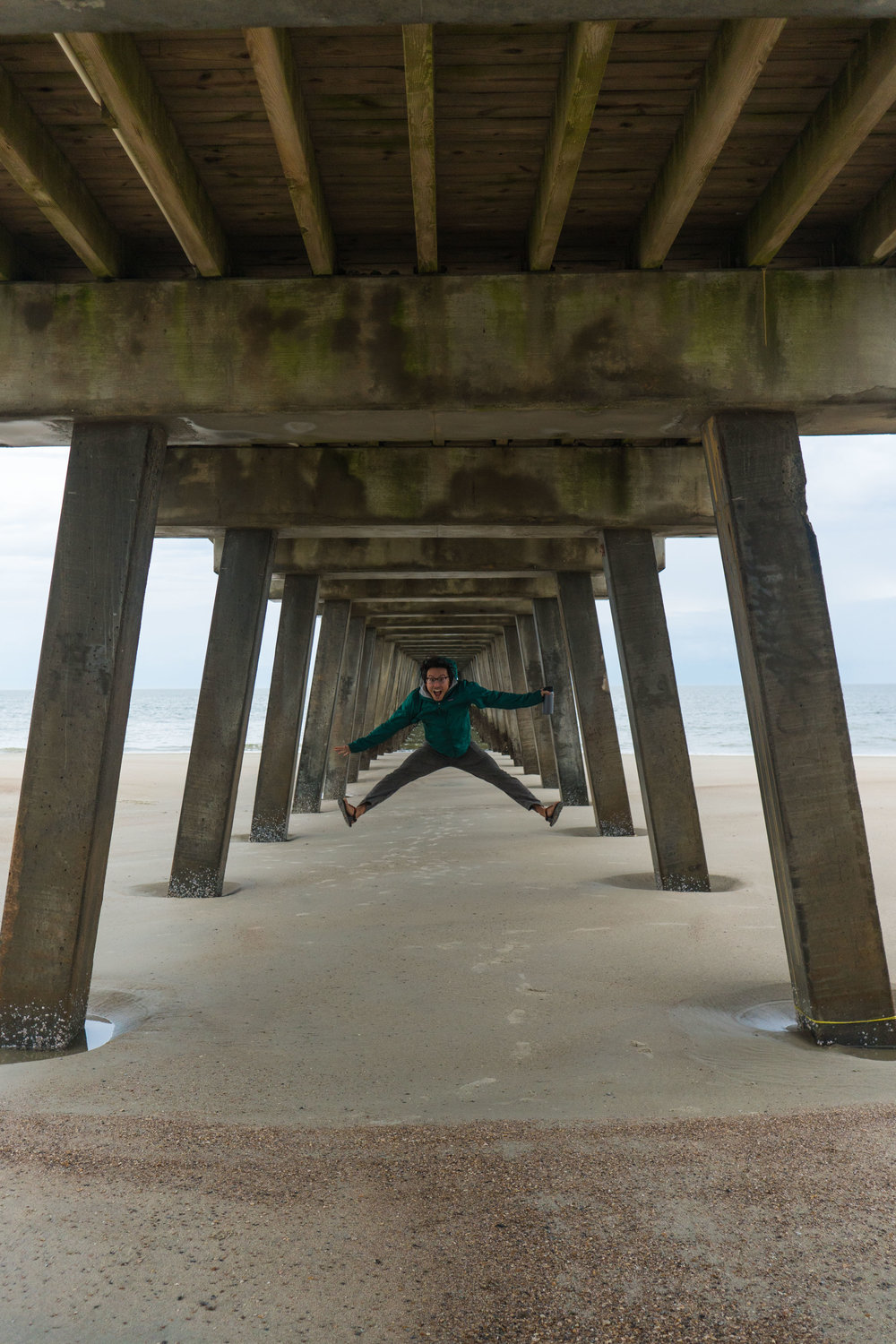 Owen under the Tybee Pier