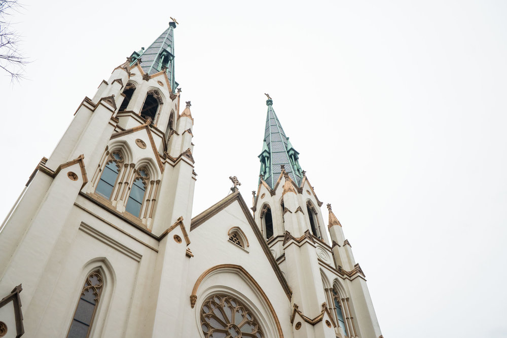One of Savannah's many pretty churches