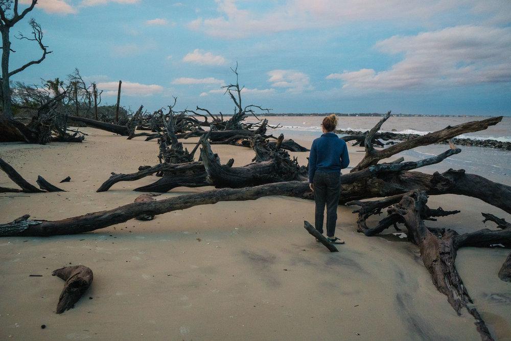 MAK on Driftwood Beach