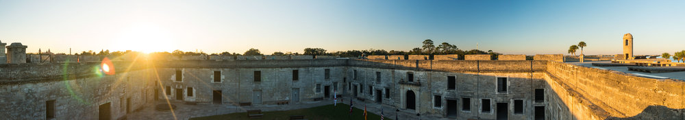 Castillo de San Marcos at sunset