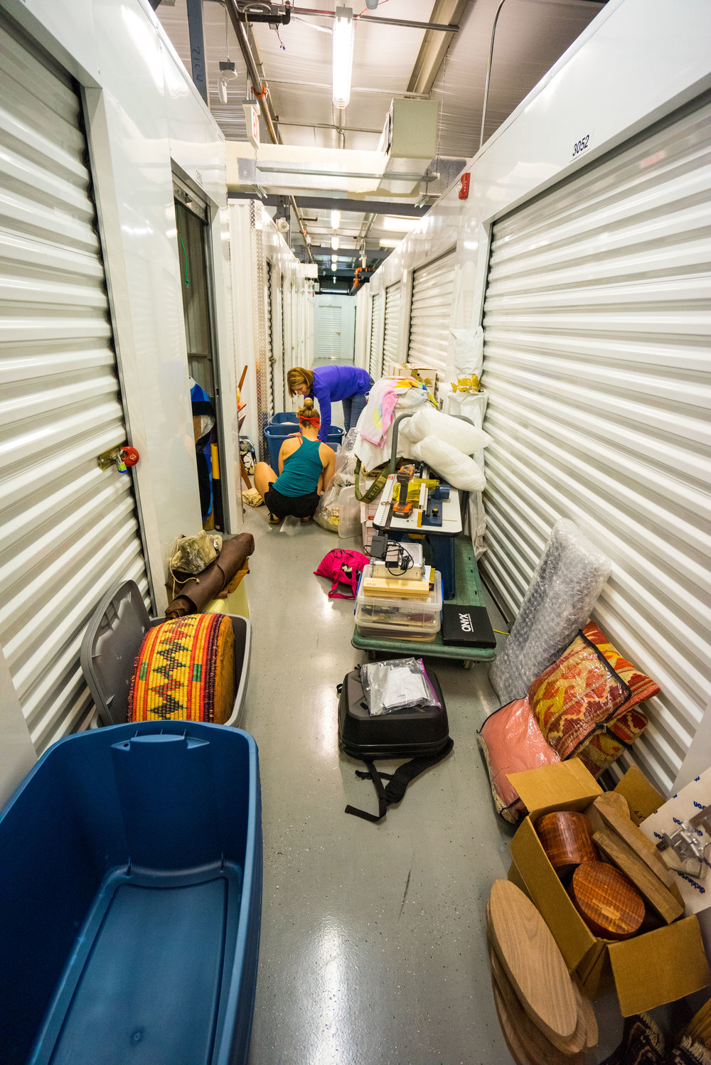 Downsizing our storage unit