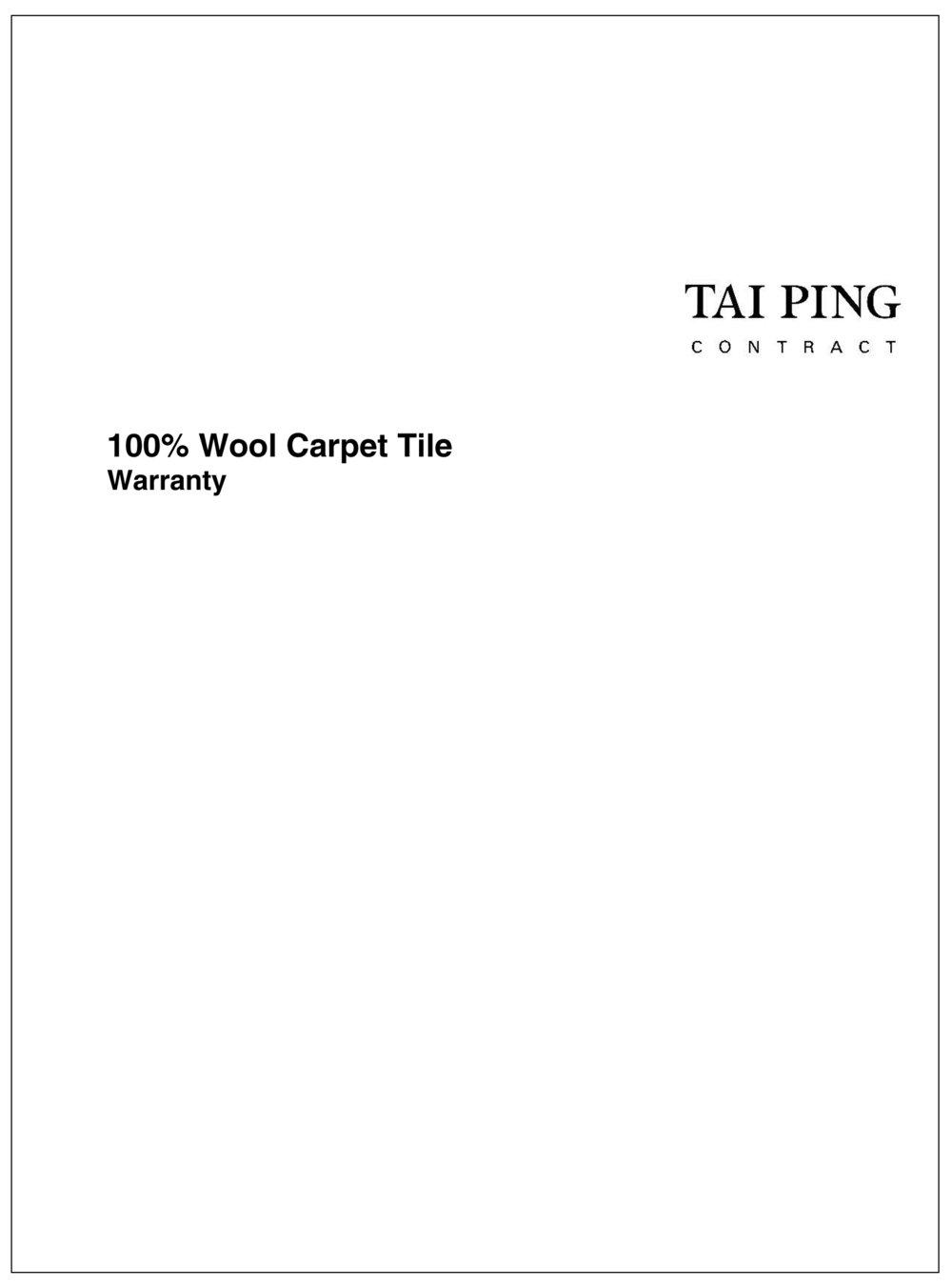Wool Carpet Tile Warranty