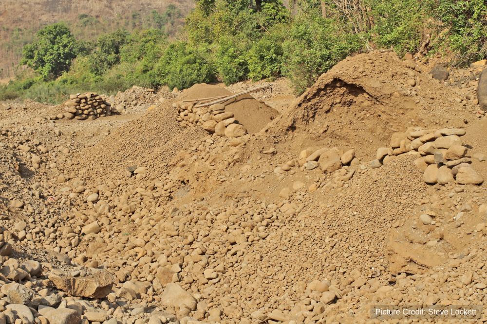 Tell-tale signs of sand mining on an Indian river