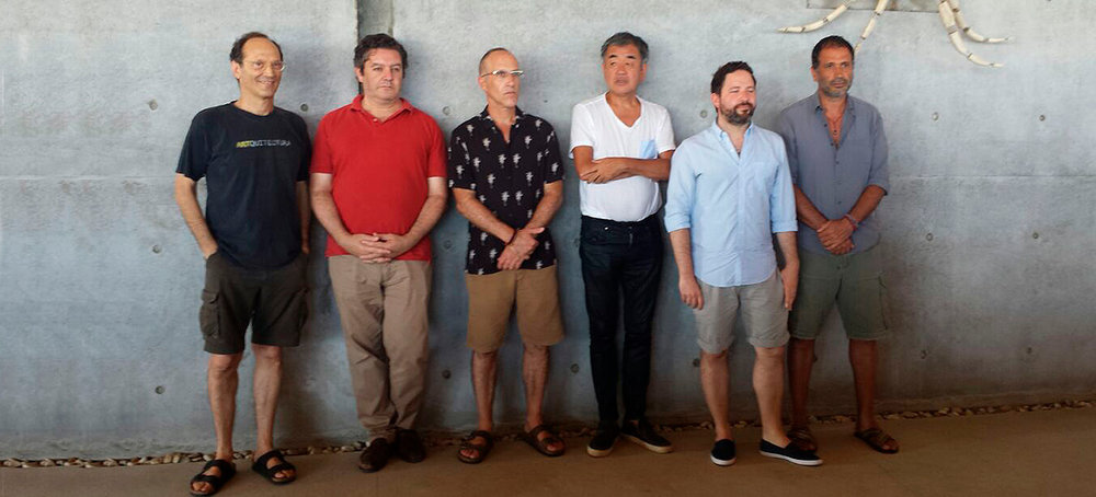 Miquel Adrià, Clemente Meneres, Alberto Kalach, Kengo Kuma, Mario Ballesteros y Bosco Sodi.