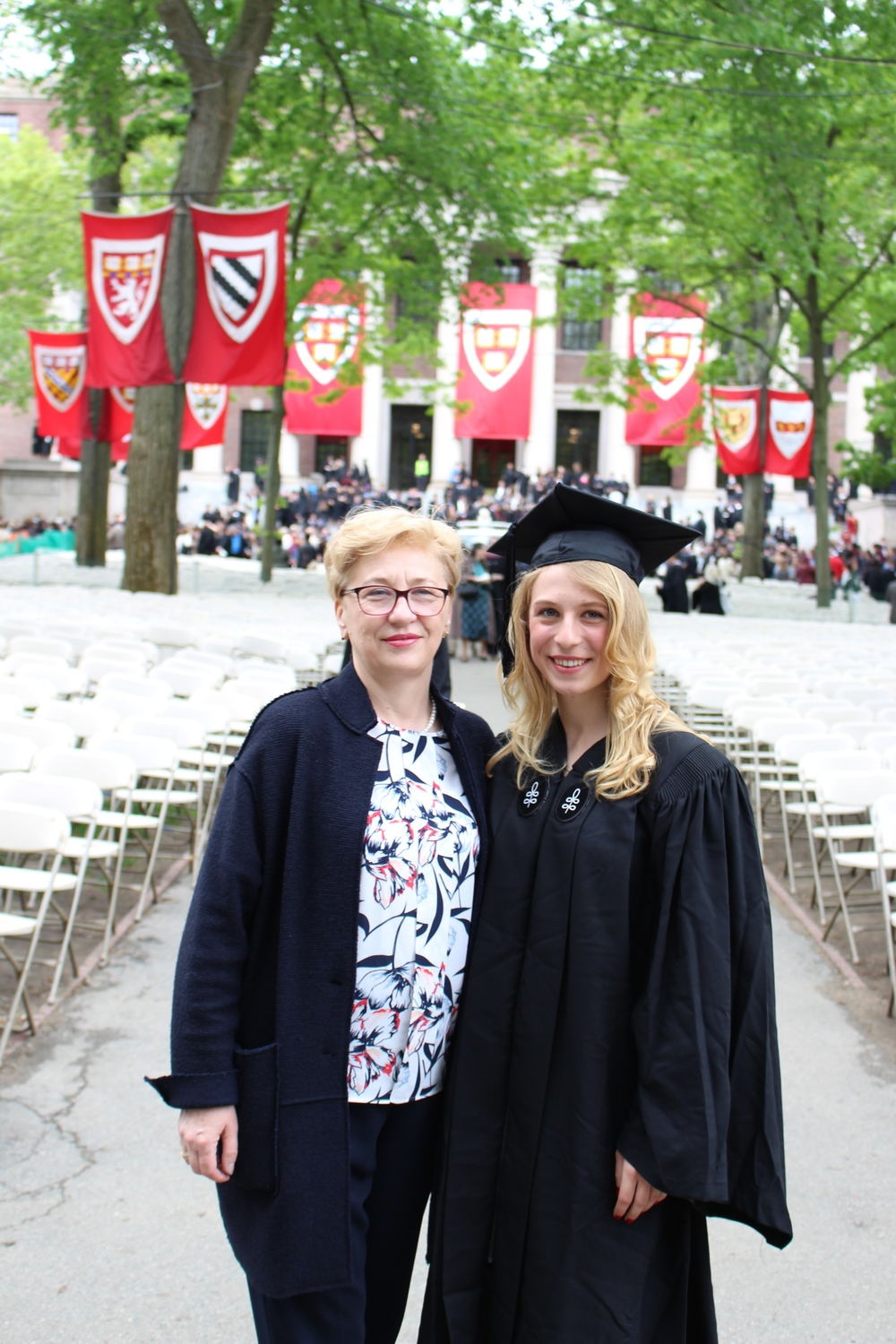 This one is for you, mom <3  In front of Widener Library in Harvard Yard.