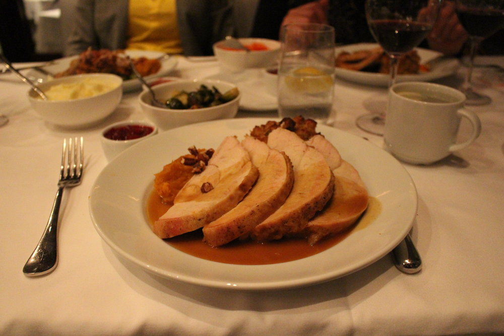 Thanksgiving dinner at Porter's House NYC