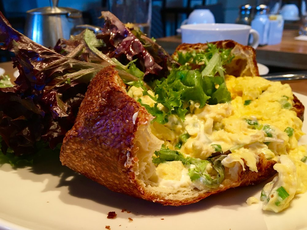 Scrambled Egg Stuffed Popover