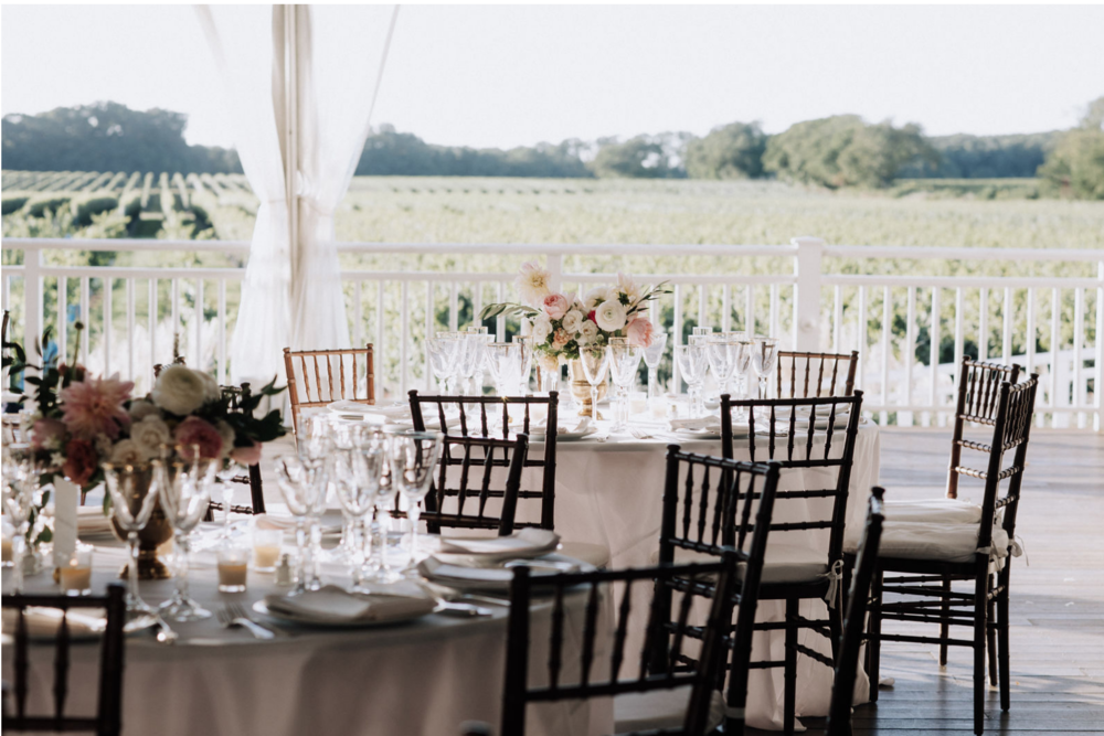 colly flowers | elegant long island vineyard wedding centerpieces