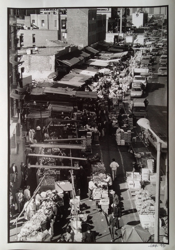 "Heather Roslund ""Haymarket"" B&W Photograph 9"" x 13"""