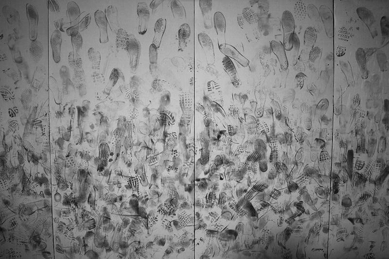"""Kegan Snyder """"Soles"""" B&W photograph 12"""" x 18"""""""