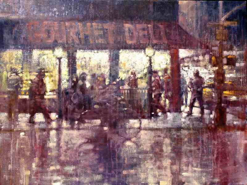"David Hinchliffe ""Deli"" Oil on Linen 30"" x 40"""