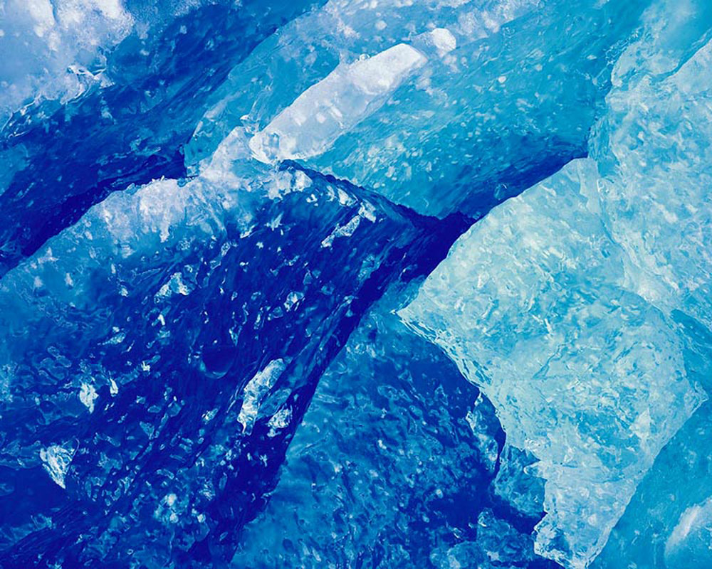 "Christopher Burkett ""Blue Glacial Ice,"" Alaska    Cibachrome Photograph     Available in 20"" x 24"", 30"" x 40"", and 40"" x 50"""