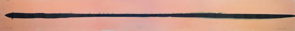 """Frederick Frazowatz """"Aurora"""" Acrylic on Paper 1986 80.5"""" x 8"""""""