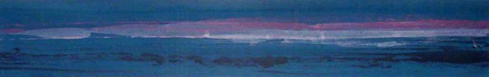 """Frederick Frazowatz """"  Carioca"""" Acrylic on Paper 1989   65.75"""" x 11"""""""