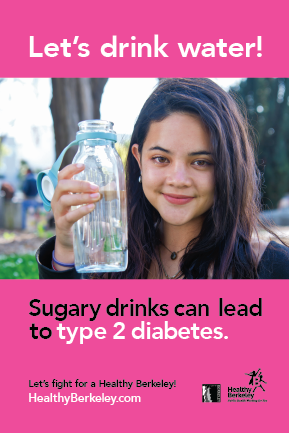 Let's Drink Water! Diabetes Pink Version   Press file