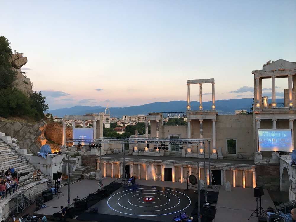 The ancient Roman theatre in Plovdiv frequently serves as a stage for operas, concerts, ballets, and dance performances