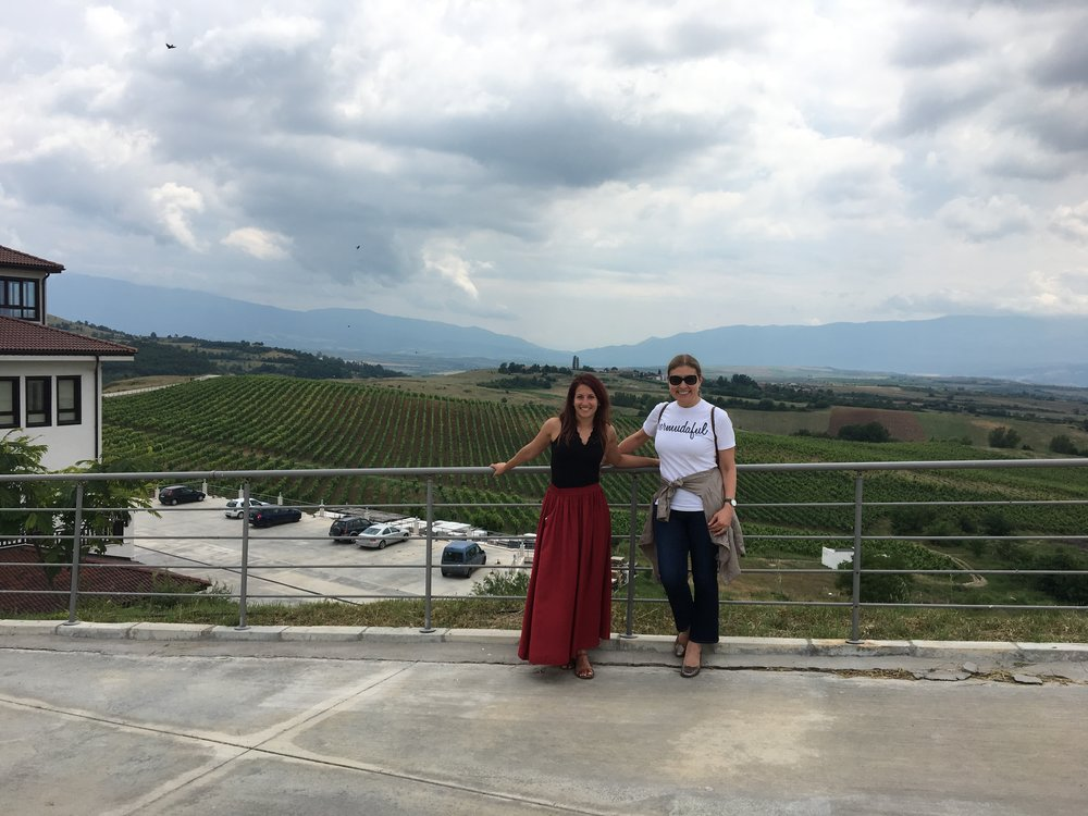 Militza Zikatanova and I with the vineyards in the background