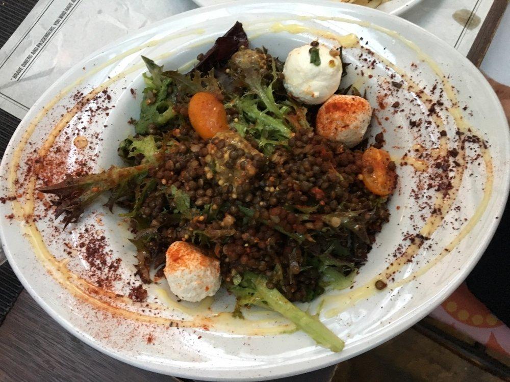 Black lentil salad at 33 Gastronauts