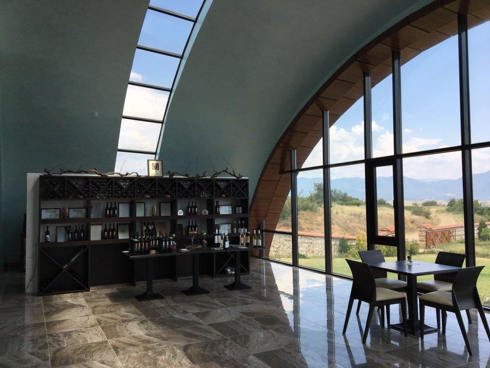 The tasting room at Orbelus Winery
