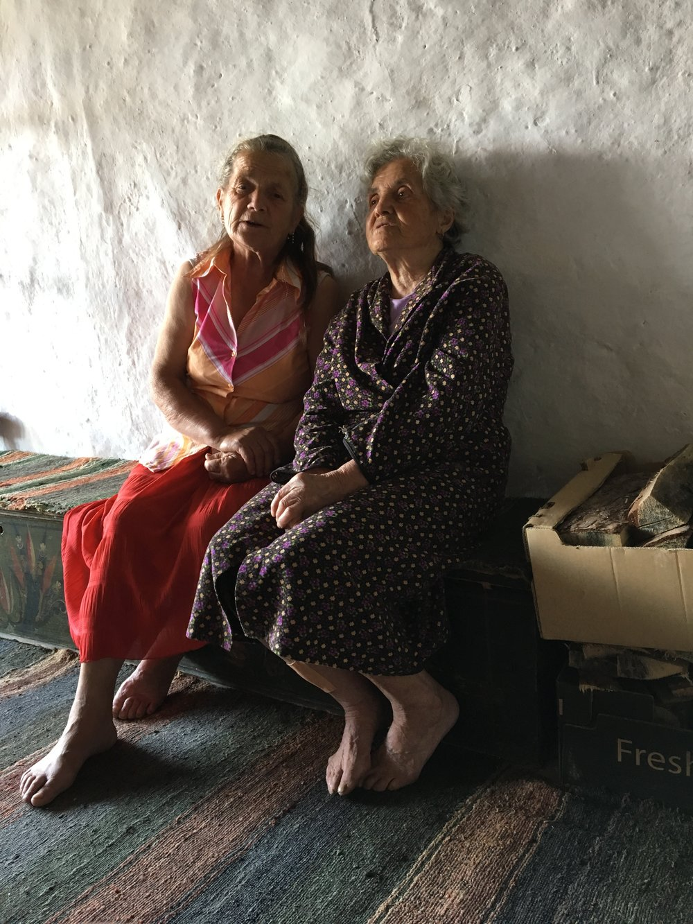 "A memorable experience - two women in the village of Dolen perform ""high singing"" for us"