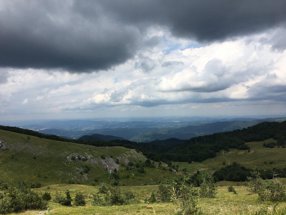 The mountain pass to Buzludzha