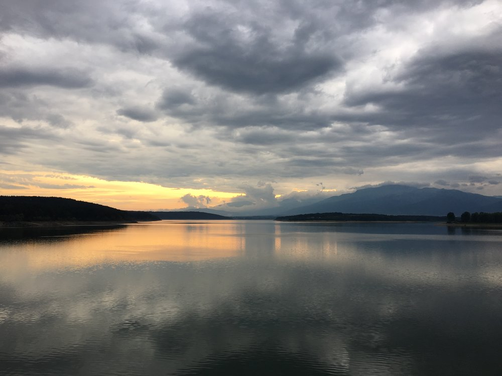 Sunset over Koprinka Dam in the Valley of the Thracian Kings