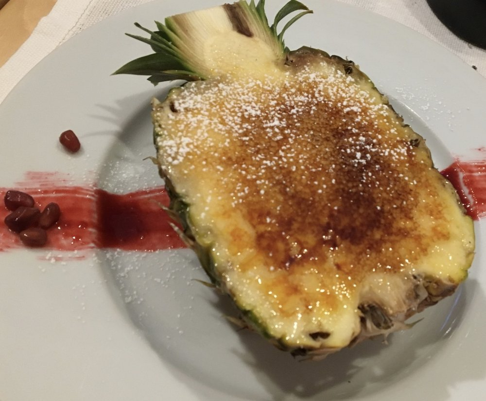 Pineapple brulée at Chef's