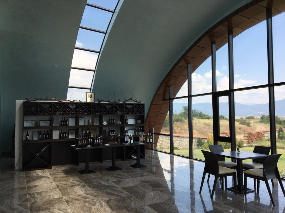 The tasting room at Orbelus Winery