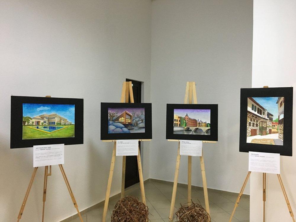 Art exhibit at Villa Melnik