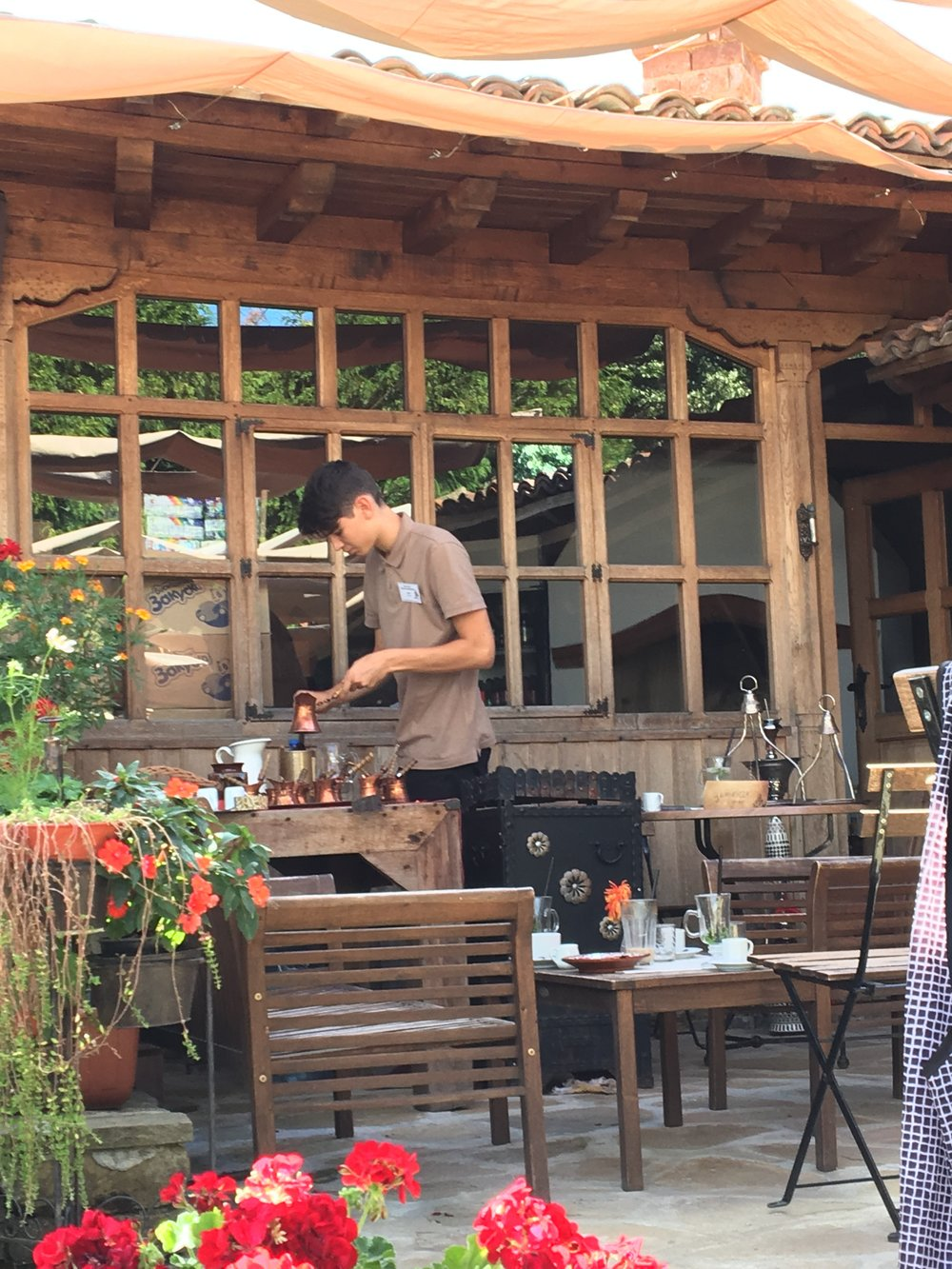Turkish coffee in the making at the Dimcho Kehaya Cafe