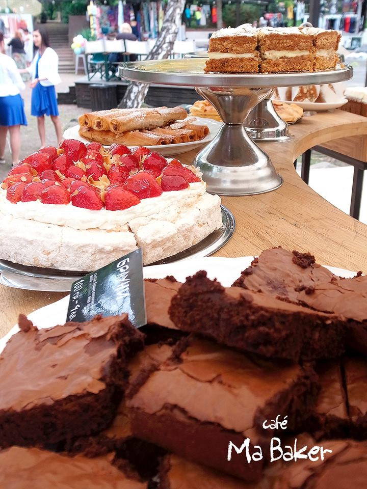 The coffee is not the only treat at Ma Baker - the pastries are delectable