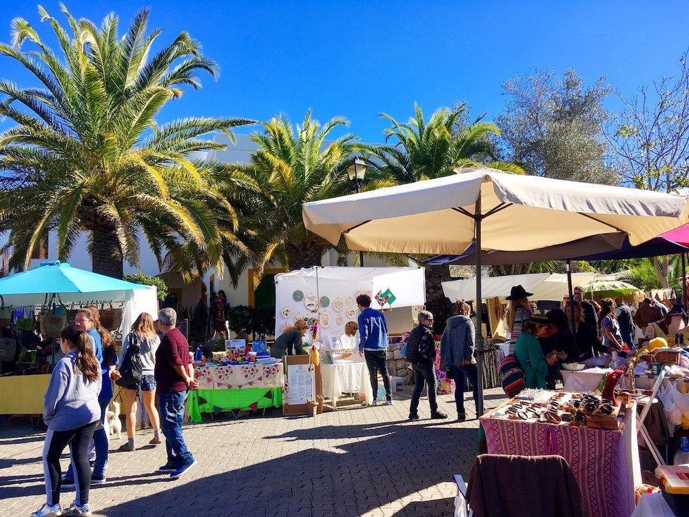 San Juan market Ibiza hippie market